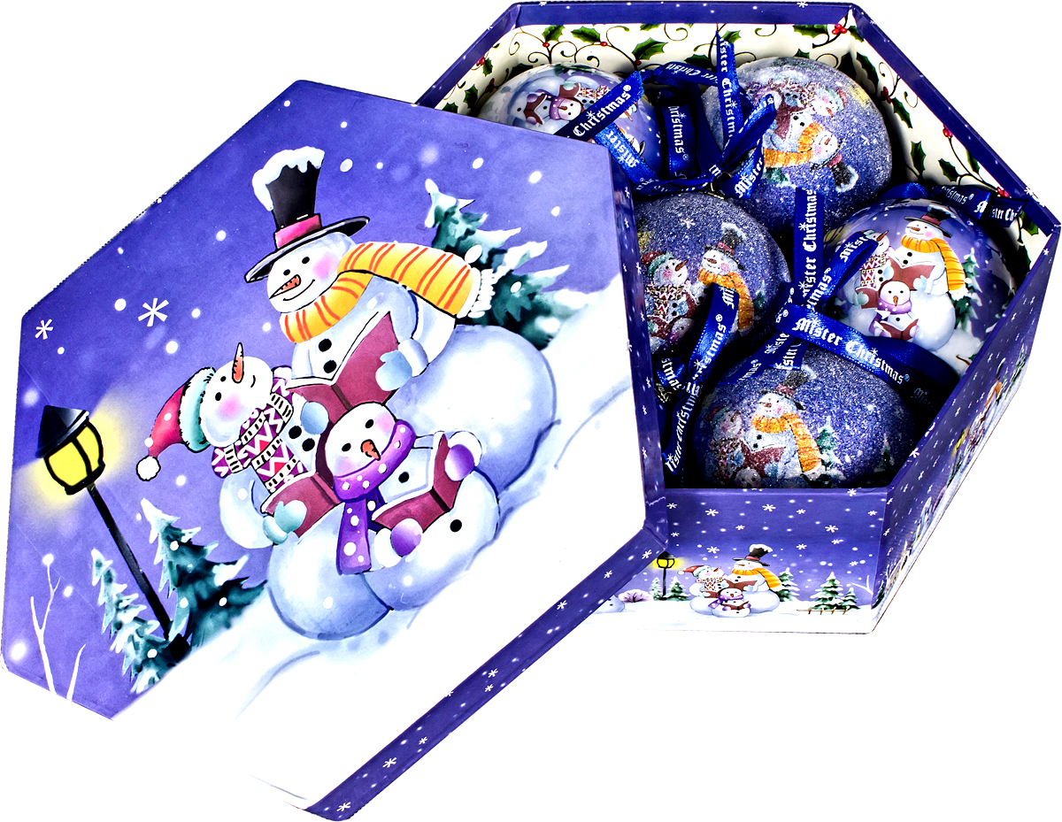 Набор новогодних подвесных украшений Mister Christmas Папье-маше, диаметр 7,5 см, 7 шт. PM-46-7PM-46-7Набор из 7 подвесных украшений Mister Christmas Папье-маше прекрасно подойдет для праздничного декора новогодней ели. Изделия, выполненные из бумаги и покрытые несколькими слоями лака, очень прочные и легкие. Такие шары создадут единый стиль в оформлении не только ели, но и интерьера вашего дома. В наборе игрушки имеют глянцевую поверхность и покрытые мелкой пластиковой крошкой. Все изделия оснащены атласной ленточкой с логотипом бренда Mister Christmas для подвешивания. Такие украшения станут превосходным подарком к Новому году, а также дополнят коллекцию оригинальных новогодних елочных игрушек.