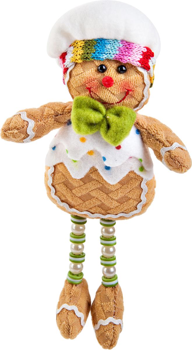 Игрушка новогодняя Mister Christmas Пряничный мальчик. SPP-12-M2351992Новогодняя игрушка Mister Christmas Пряничный мальчик, изготовленная из текстиля, прекрасно подойдет для праздничного декора дома. Изделие можно разместить в любом понравившемся вам месте. Новогодняя игрушка несет в себе волшебство и красоту праздника. Создайте в своем доме атмосферу веселья и радости, украшая дом красивыми игрушками, которые будут из года в год накапливать теплоту воспоминаний.