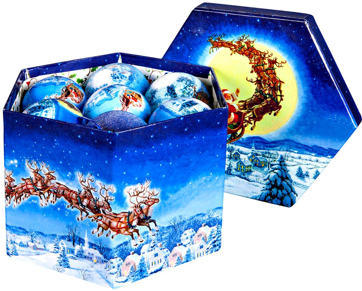 Набор новогодних подвесных украшений Mister Christmas Папье-маше, диаметр 7,5 см, 14 шт. PM-70-14PM-70-14