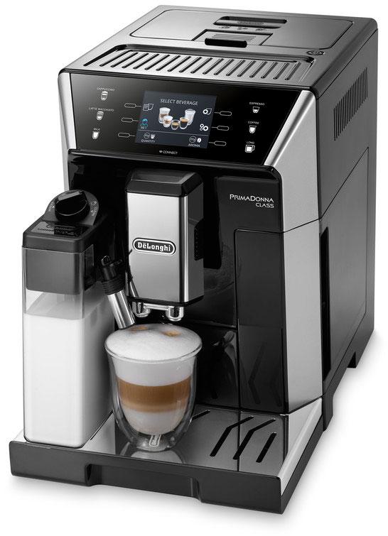 DeLonghi PrimaDonna Class ECAM 550.55.SB, Silver кофемашина кофемашина delonghi ecam 25 462 s 1450вт 1 8л 15 бар серебристый