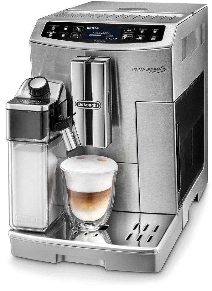 DeLonghi PrimaDonna S ECAM 510.55.M, Silver кофемашина ECAM 510.55.M