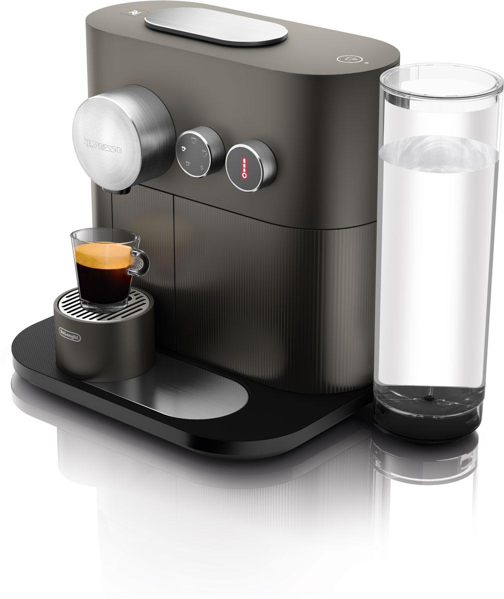 DeLonghi Nespresso Expert EN350.G, Dark Gray капсульная кофемашинаEN350.GПревосходное наслаждение кофе для требовательных индивидуалистов: разработано для отдельных порций, в зависимости от предпочтения и потребности между различными типами молока, например. Используя две отдельные линии жидкости, теперь можно смешивать кофе и горячую воду, чтобы создать еще более длинный кофе. Теперь можно персонализировать температуру ваших напитков на 3 уровнях, будь то через машину или приложение Nespresso. Матовый алюминиевый выход для кофе, слайдер и циферблаты улучшают дизайн, придавая машине ощущение превосходства.