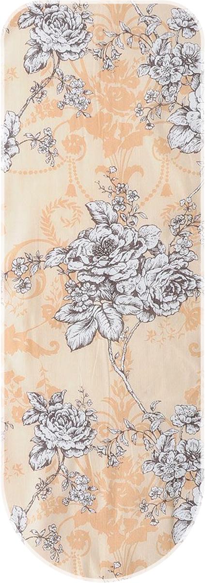 Чехол для гладильной доски Eva, цвет: белый, бежевый, 119 х 37 смЕ1305-белый, бежевый ЦветыЧехол Eva, выполненный из хлопка и поролона, продлит срок службы вашей гладильной доски. Чехол снабжен стягивающим шнуром, при помощи которого вы легко отрегулируете оптимальное натяжение чехла и зафиксируете его на рабочей поверхности гладильной доски.Размер чехла: 119 х 37 см. Максимальный размер доски: 110 х 30 см.