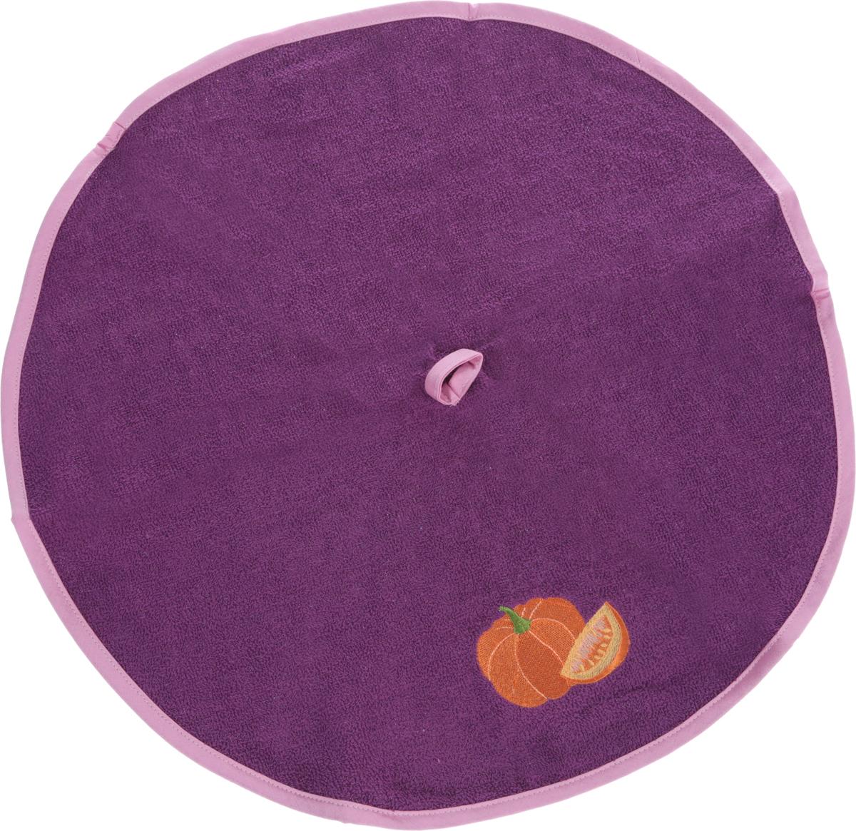 Полотенце кухонное Karna Zelina. Тыква, цвет: светло-фиолетовый, диаметр 50 см504/CHAR005_светло-фиолетовыйКруглое кухонное полотенце Karna Zelina. Тыква изготовлено из 100% хлопка, поэтому являетсяэкологически чистым. Качество материала гарантирует безопасность не только взрослым, но и самым маленьким членам семьи. Изделие мягкое и пушистое, оснащено удобной петелькой и украшено оригинальной вышивкой. Кухонное полотенце Karna сделает интерьер вашей кухни стильным и гармоничным.Диаметр полотенца: 50 см.