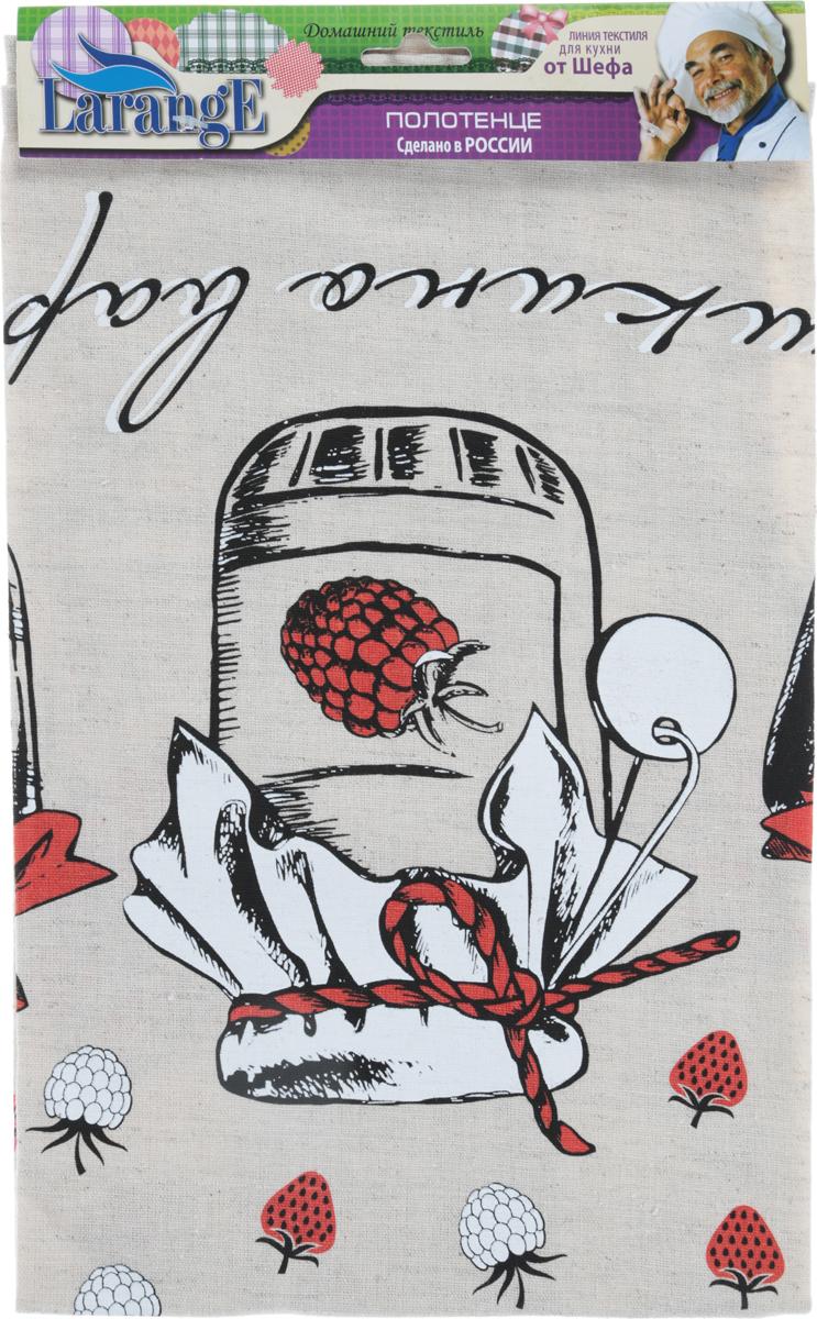 Полотенце кухонное LarangE От Шефа. Варенье, 45 х 60 см627-003_банка вареньяКухонное полотенце LarangE От Шефа. Варенье изготовлено из льна и хлопка и выполняет двойную миссию - декоративную и практичную. Полотенце идеально впитывает влагу и сохраняет свою мягкость даже после многих стирок. Домашний текстиль из натурального льна - не просто следование модной тенденции к естественности.Лен - это действительно одно из самых ценных волокон растительного происхождения. Его уникальные свойства наделяют ткани ценными качествами. Льняная ткань - самая прочная и экологичная. Она практически не выгорает на прямом солнце, легко стирается и, при этом, не садится и не деформируется. Полотенце LarangE От Шефа - отличный вариант для практичной и современной хозяйки.