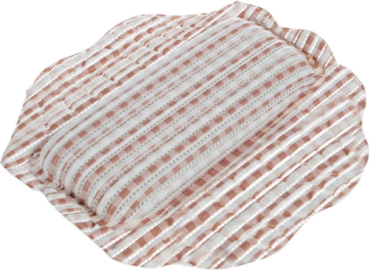 Подушка для ванны Fresh Code Flexy, на присосках, цвет: белый, коричневый, 33 х 33 см55764_клетка_белый, коричневыйПодушка для ванны Fresh Code Flexy обеспечивает комфорт во время принятия ванны. Крепится на поверхность ванной с помощью присосок.Выполнена из ПВХ.