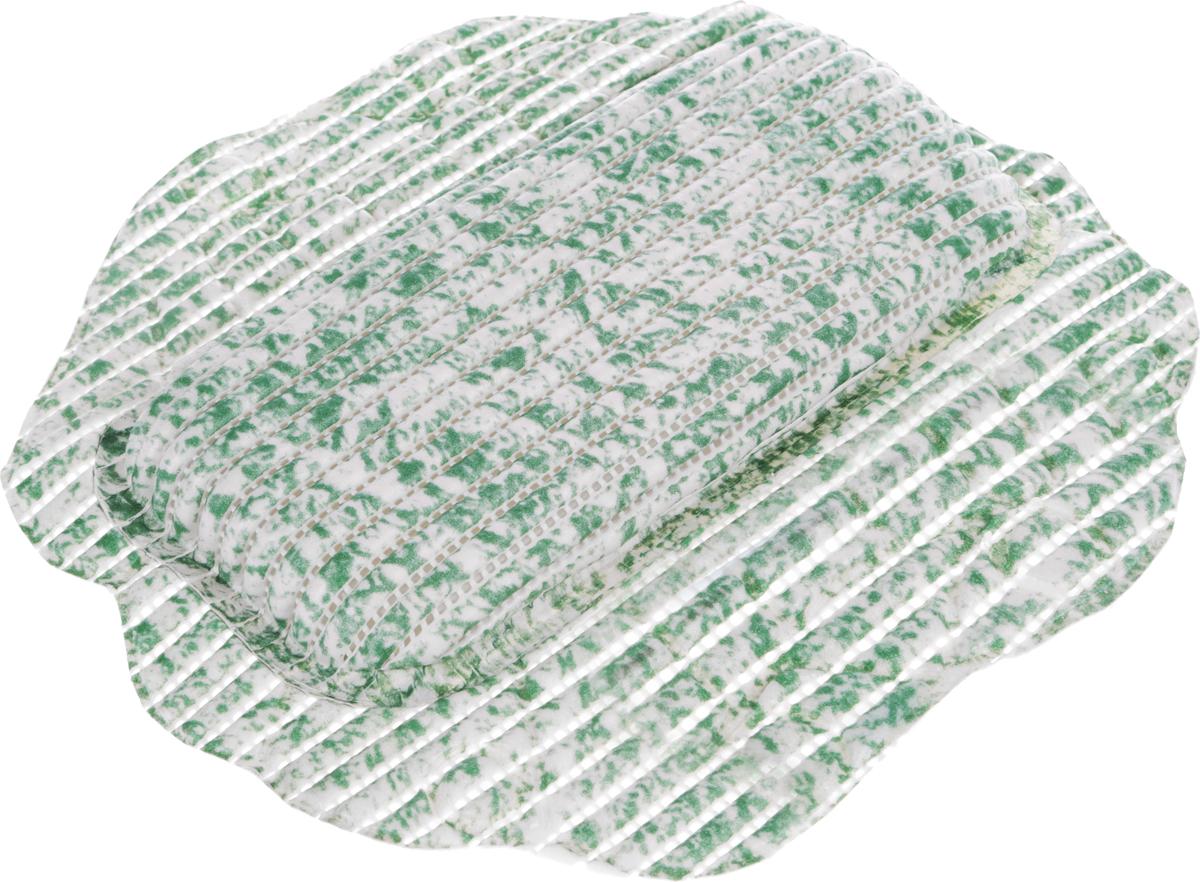 Подушка для ванны Fresh Code Flexy, на присосках, цвет: зеленый, белый, 33 х 33 см подушка для ванны fresh code flexy цвет коричневый 33 х 33 см