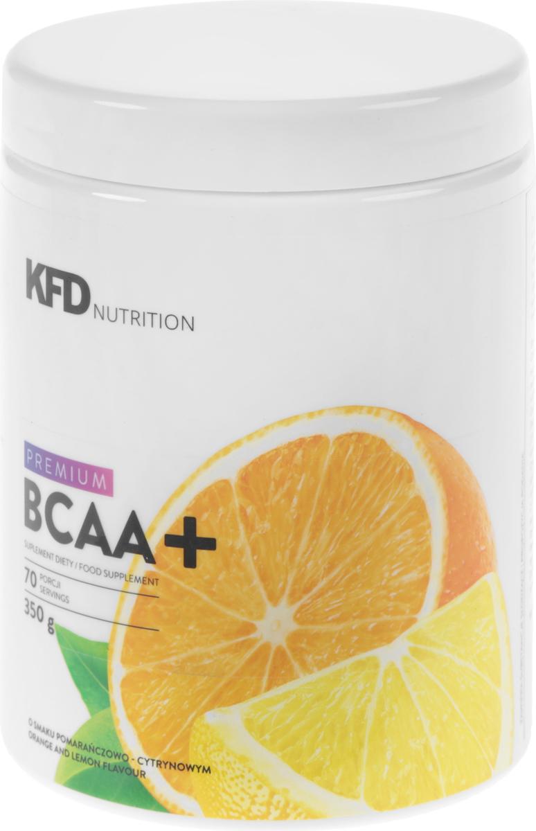Аминокислоты KFD Premium ВСАА, апельсиново-лимонный, 350 г5901947661093_350KFD Premium BCAA это смесь аминокислот с разветвлённой цепью (L-лейцин, L-валин и L-изолейцин) в соотношении 2:1:1. Как и во всех продуктах KFD, в нём нет красителей или вредных или бесполезных добавок. СПОСОБ УПОТРЕБЛЕНИЯ: одну порцию – 10 г (2 мерные ложки «без верха») нужно всыпать в ёмкость с 150 – 200 мл холодной воды и размешать. Употреблять соответственно индивидуальным потребностям, не чаще 3 раз в день, например, перед и после тренировки и/или утром перед едой, сразу после приготовления.УСЛОВИЯ ХРАНЕНИЯ: В плотно закрытой таре, в сухом и хорошо проветриваемом помещении при комнатной температуре, в недоступном для детей в возрасте до 14 лет месте. Этот продукт не должен употребляться детьми в возрасте до 14, беременными женщинами и людьми с болезнями почек и / или печени. Этот продукт содержит подсластители.ПИЩЕВАЯ ЦЕННОСТЬ 100 г 10 г (одна порция) Энергетическая ценность 320 ккал (1340 кДж) 32 ккал (139 кДж) Белки 80 г 8 г Жиры 0 г 0 г Углеводы 0 г 0 г L-лейцин 40 г 4000 мг L-валин 20 г 2000 мг L-изолейцин 20 г 2000 мгСостав: L-лейцин, L-валин, L-изолейцин, рапсовый лецитин, регулятор кислотности - лимонная кислота, ароматизатор, подсластители - сукралоза и стевиогликозиды.Товар не является лекарственным средством.Товар не рекомендован для лиц младше 18 лет.Могут быть противопоказания и следует предварительно проконсультироваться со специалистом.Как повысить эффективность тренировок с помощью спортивного питания? Статья OZON Гид