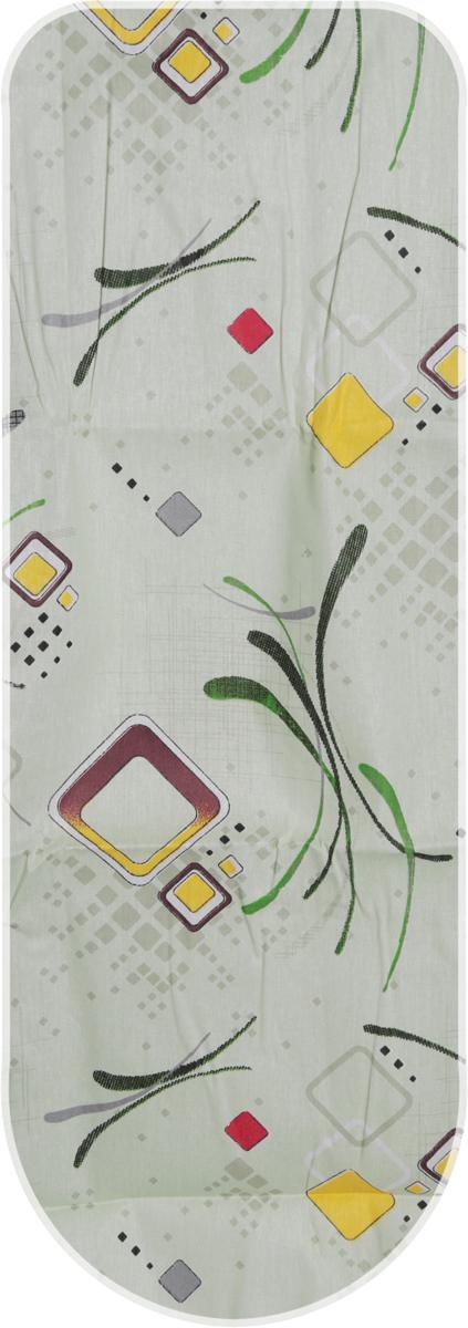 Чехол для гладильной доски Eva, с поролоном, цвет: салатовый, 125 х 47 смЕ13-салатовый квадратыЧехол Eva, выполненный из хлопка и поролона, продлит срок службы вашей гладильной доски. Чехол снабжен стягивающим шнуром, при помощи которого вы легко отрегулируете оптимальное натяжение чехла и зафиксируете его на рабочей поверхности гладильной доски.Размер чехла: 125 х 47 см. Максимальный размер доски: 116 х 40 см.