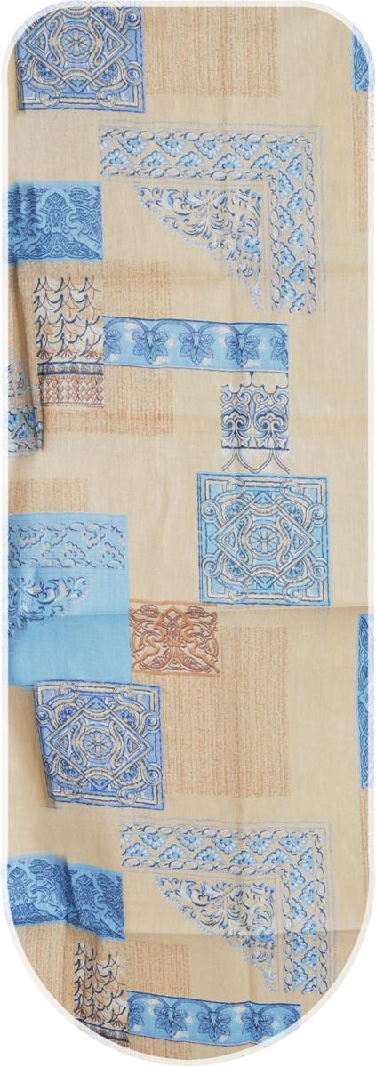 Чехол для гладильной доски Detalle, цвет: синий, коричневый, 120 х 42 см + полотноЕ1301-синий, коричневыйЧехол для гладильной доски Detalle, цвет: синий, коричневый, 120 х 42 см + полотно