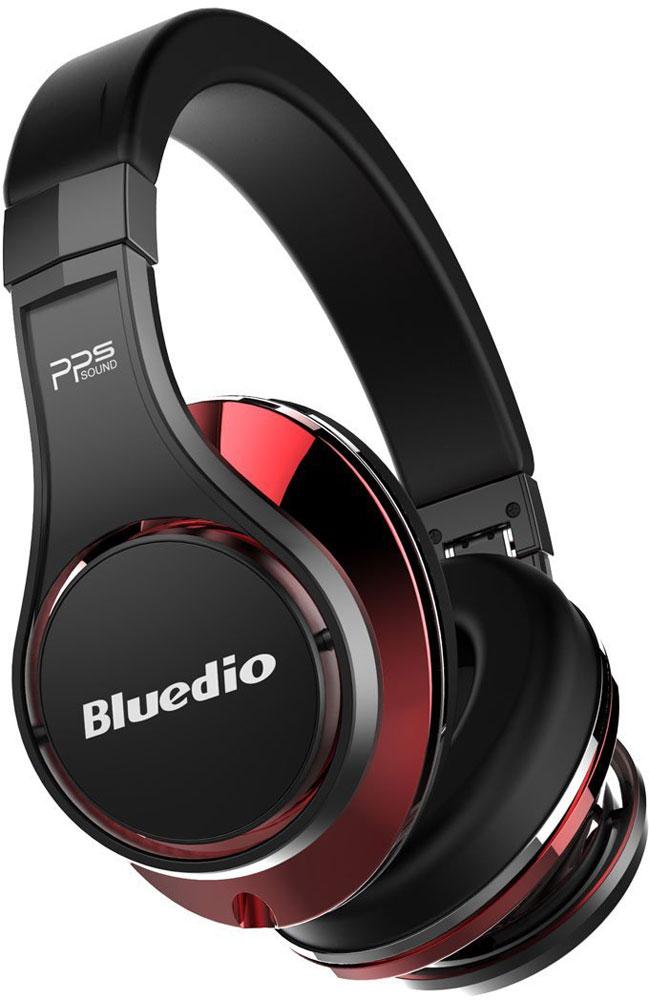Bluedio UFO U, Black Red беспроводные наушникиUFO U black&redBluedio UFO U - это беспроводные наушники накладного типа с микрофоном. В модели используется эксклюзивная технология PPS8, в основе которой лежит использование сразу 8 излучателей. Наушники можно подключать к мобильным устройствам благодаря технологии Bluetooth 4.1. Гарнитура работает от встроенного аккумулятора, которого хватит на целые сутки прослушивания музыки. Удобное широкое оголовье можно регулировать, а складная конструкция позволяет хранить или перевозить наушники в чехле. При желании их можно подключить к источнику аудио с помощью комплектного кабеля с разъемом 3.5 мм. Управление функциями осуществляется с помощью кнопок, расположенных на правой чашке наушников.3D-технология звука PPS8 Диаметр динамиков: 2 х 50 мм, 6 х 20 мм (в одном наушнике) Время зарядки аккумулятора: 3 часа