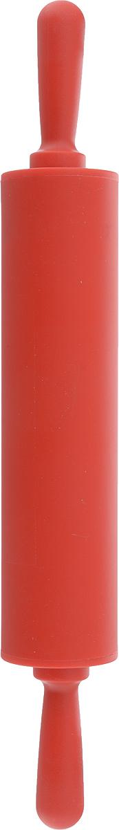 Скалка Доляна Севилья, цвет: красный, 30 х 4 см851317Скалка — необходимый на кухне предмет. Изделие из силикона представляет собой усовершенствованную версию привычного инструмента. Яркий дизайн делает предмет украшением арсенала каждого повара. Готовку облегчают удобные ручки.