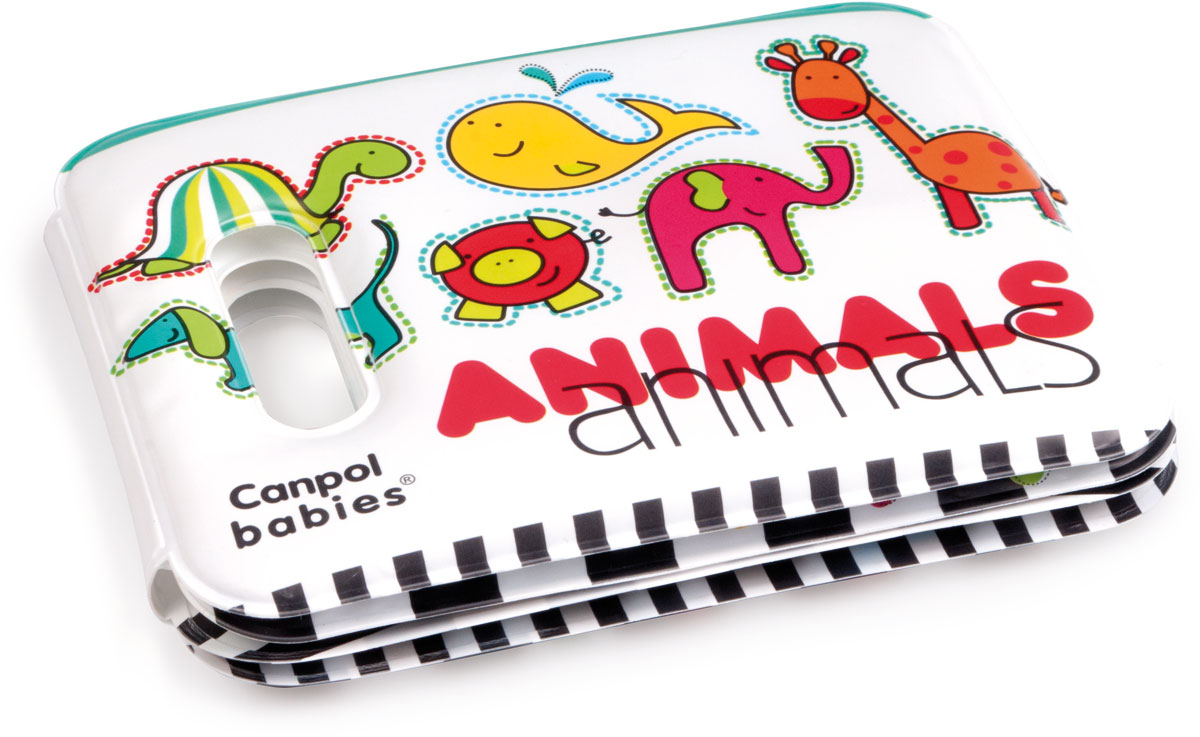 Canpol Babies Мягкая книжка-игрушка Colourful Animals с пищалкой песенки для малышей книжка игрушка
