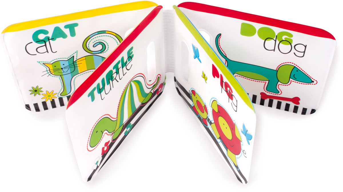Canpol BabiesМягкая книжка-игрушка Colourful Animals с пищалкой Canpol Babies