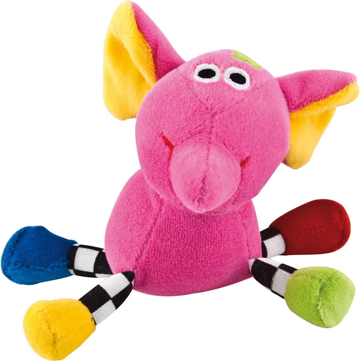 Canpol Babies Игрушка подвесная с погремушкой Сумасшедшие животные Слон цвет розовый canpol babies коврик развивающий цветной океан