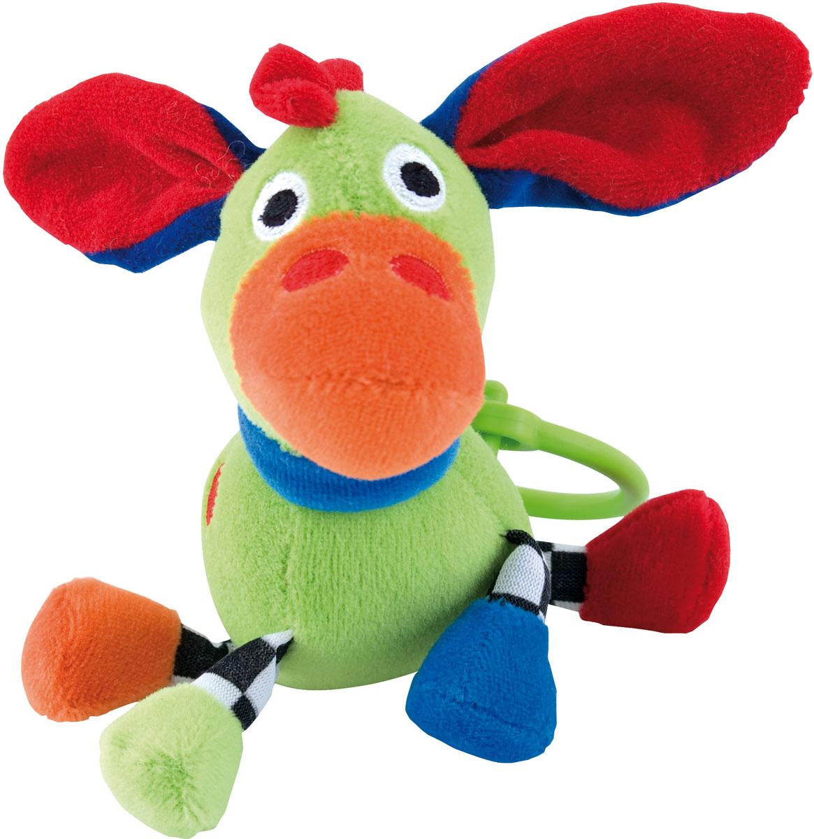Canpol Babies Игрушка подвесная с погремушкой Сумасшедшие животные Осел цвет зеленый canpol babies погремушка улитка 0 canpol babies зеленый