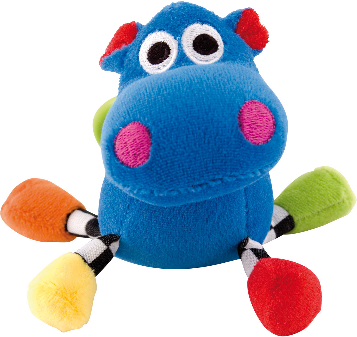 Canpol Babies Игрушка подвесная с погремушкой Сумасшедшие животные Бегемот цвет синий canpol babies коврик развивающий цветной океан