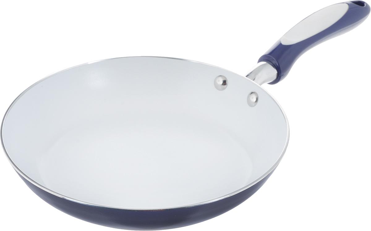Сковорода Winner, с керамическим покрытием, цвет: синий. Диаметр 22 см. WR-6111WR-6111_синийСковорода Winner, с керамическим покрытием, цвет: синий. Диаметр 22 см. WR-6111