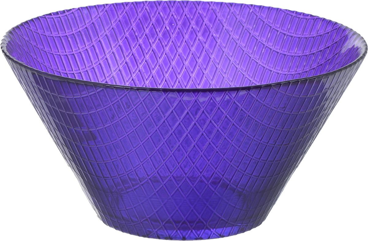 Салатник NiNaGlass Тэри, цвет: лиловый, 17 х 17 х 8,5 см83-031-Ф170 ЛИЛ