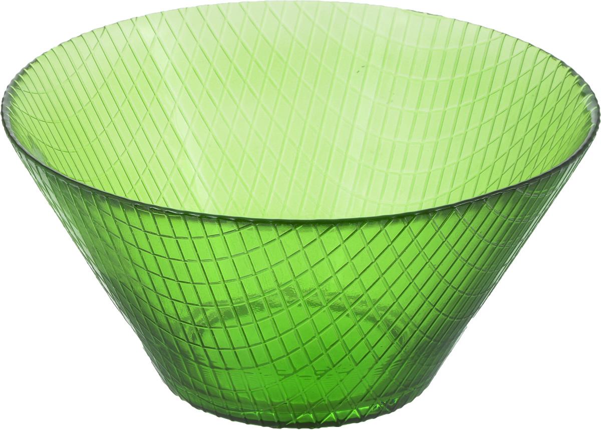 Салатник NiNaGlass Тэри, цвет: зеленый, 17 х 17 х 8,5 см83-031-Ф170 ЗЕЛ