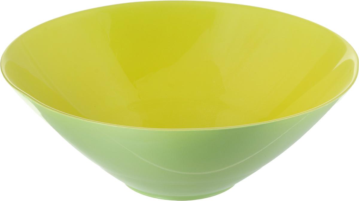 Миска NiNaGlass Голландия, цвет: желто-зеленый, диаметр 20 см83-012-Ф20 Ж-Зел