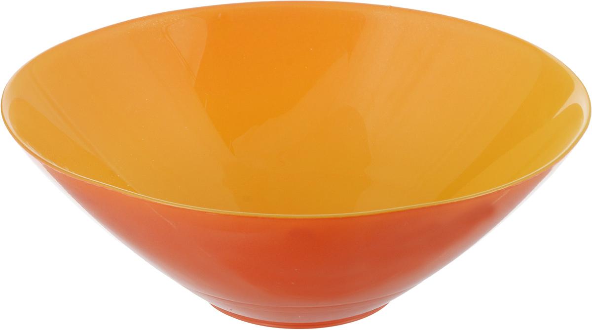 Миска NiNaGlass Голландия, цвет: желто-оранжевый, 20 х 20 х 7 см83-012-ф20 Ж-Орж