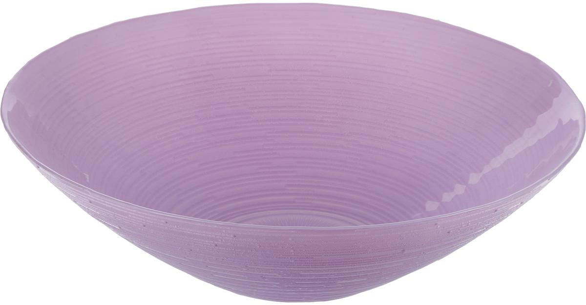 Миска NiNaGlass Риски, цвет: сиреневый, диаметр 25 см83-012-ф25 Р-СИР