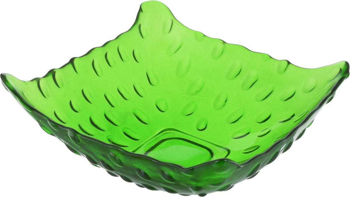 Салатник NiNaGlass Софи, цвет: зеленый, 16,5 х 16,5 х 6 см83-030 ЗЕЛСалатник NiNaGlass Софи выполнен из высококачественного стекла и имеет рельефную внешнюю поверхность. Такой салатник украситсервировку вашего стола и подчеркнет прекрасный вкус хозяйки, а также станет отличным подарком.
