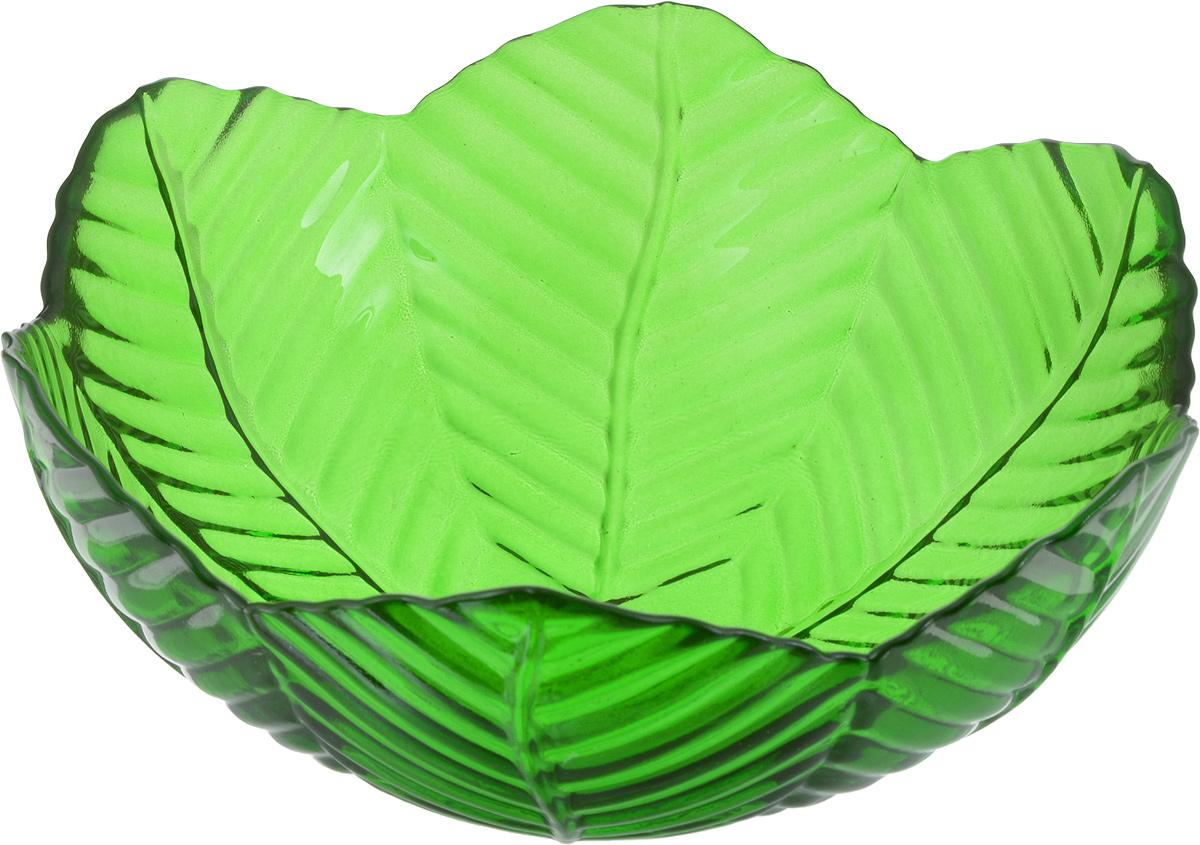 Салатник NiNaGlass Верна, цвет: зеленый, 20 х 20 х 8,5 см83-032-Ф200 ЗЕЛСалатник NiNaGlass Верна выполнен из высококачественного цветного стекла. Внешние стенки декорированы красивым рельефным узором. Салатник идеален для сервировки салатов, овощей, ягод, сухофруктов, гарниров и многого другого. Он отлично подойдет как для повседневных, так и для торжественных случаев. Такой салатник прекрасно впишется в интерьер вашей кухни и станет достойным дополнением к кухонному инвентарю.