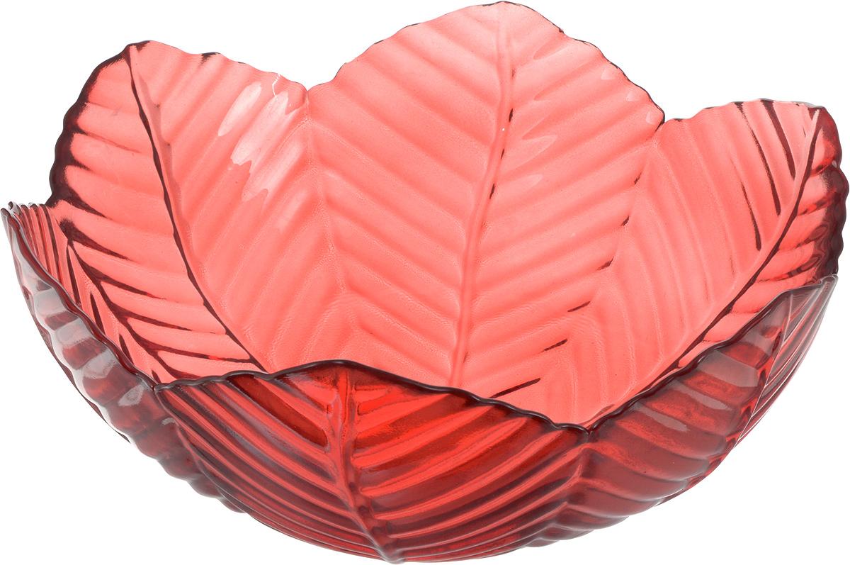 Салатник NiNaGlass Верна, цвет: рубиновый, 20 х 20 х 8,5 см83-032-Ф200 РУБСалатник NiNaGlass Верна выполнен из высококачественного цветного стекла. Внешние стенки декорированы красивым рельефным узором. Салатник идеален для сервировки салатов, овощей, ягод, сухофруктов, гарниров и многого другого. Он отлично подойдет как для повседневных, так и для торжественных случаев. Такой салатник прекрасно впишется в интерьер вашей кухни и станет достойным дополнением к кухонному инвентарю.