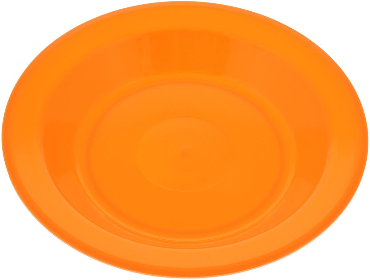 Тарелка Gotoff, цвет: оранжевый, диаметр 21 смWTC-803_оранжевыйТарелка Gotoff изготовлена из цветного пищевого пластика и предназначена для холодной и горячей пищи. Выдерживает температурный режим в пределах от -25°С до +110°C. Посуду из пластика можно использовать в микроволновой печи, но необходимо, чтобы нагрев непревышал максимально допустимую температуру. Удобная, легкая и практичная посуда для пикника и дачи поможет сервировать стол без хлопот!Диаметр тарелки (по верхнему краю): 21 см. Высота тарелки: 3 см.