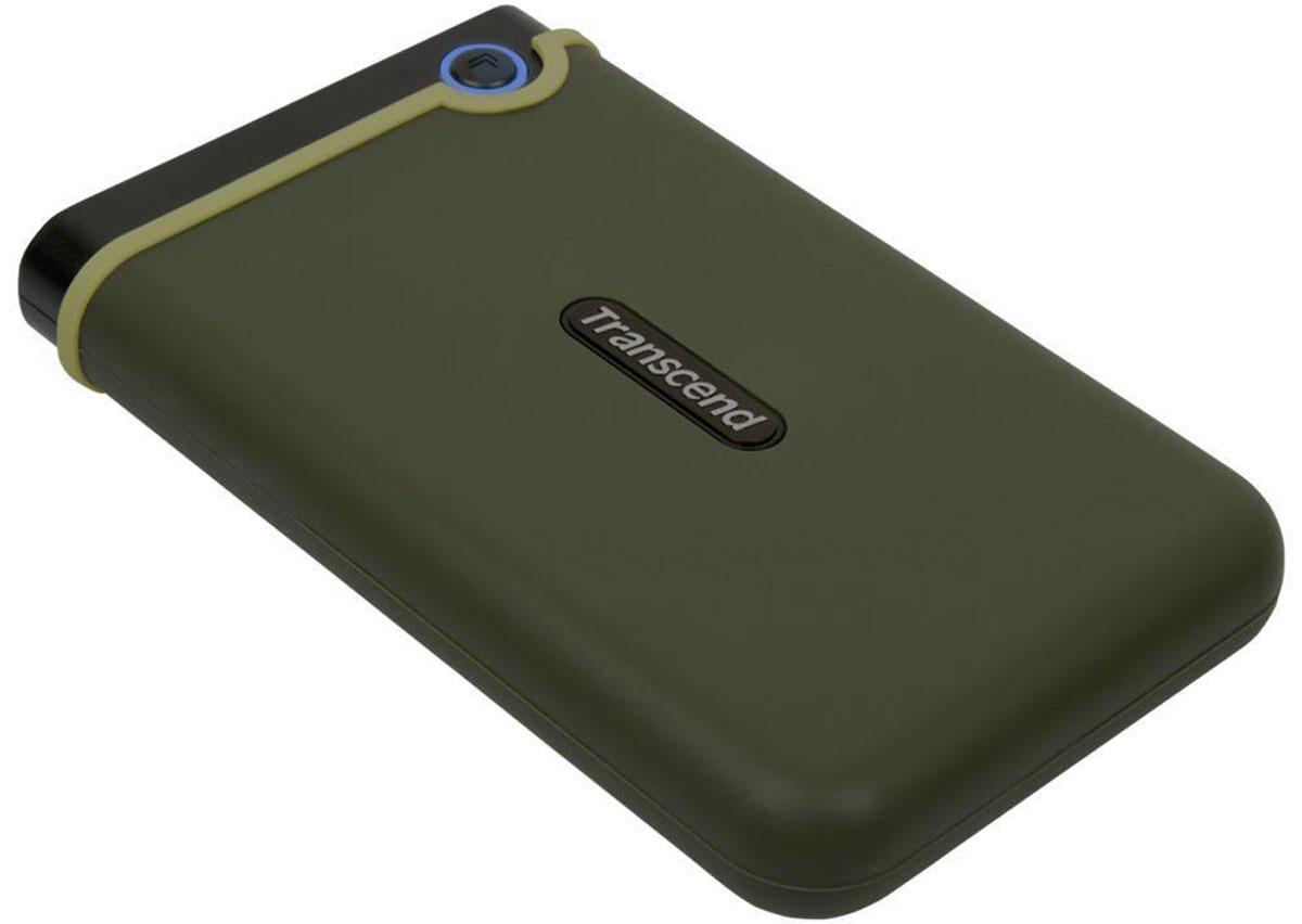 Transcend StoreJet 25M3 2TB, Khaki внешний жесткий диск (TS2TSJ25M3)
