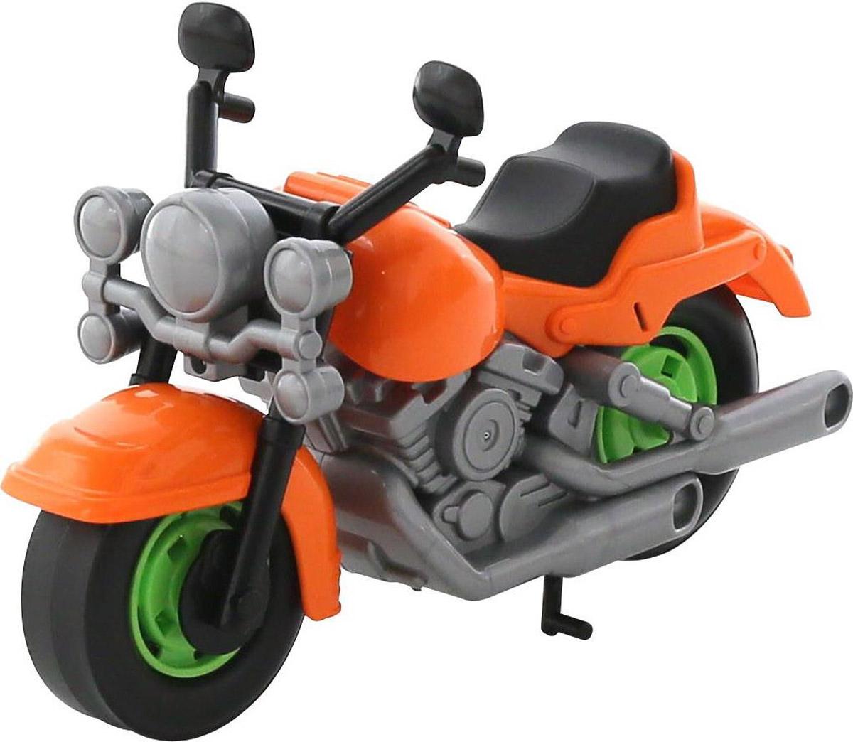 Полесье Гоночный мотоцикл Кросс цвет оранжевый серый