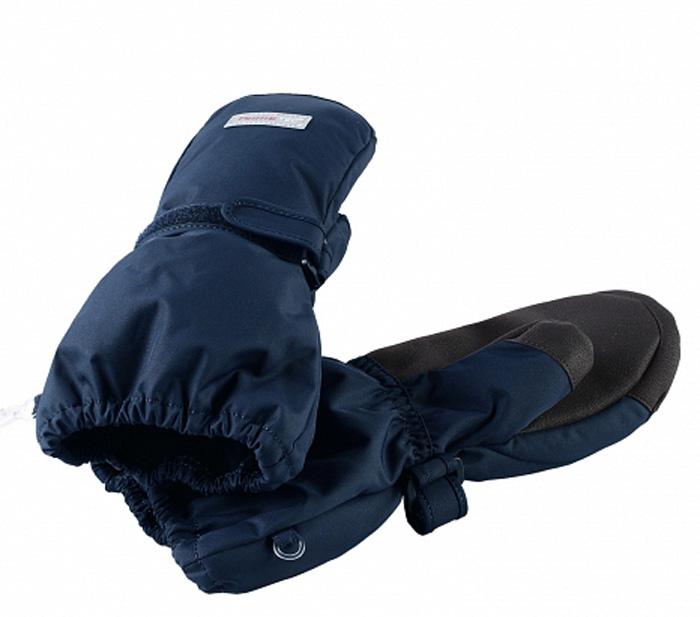 Варежки детские Reima, цвет: темно-синий. 5272886980. Размер 45272886980Варежки Reima выполнены из ветрозащитной, водонепроницаемой и дышащей мембранной ткани. Запястья дополнены резинкой и регулируемой липучкой. Ладони дополнительно усилены.