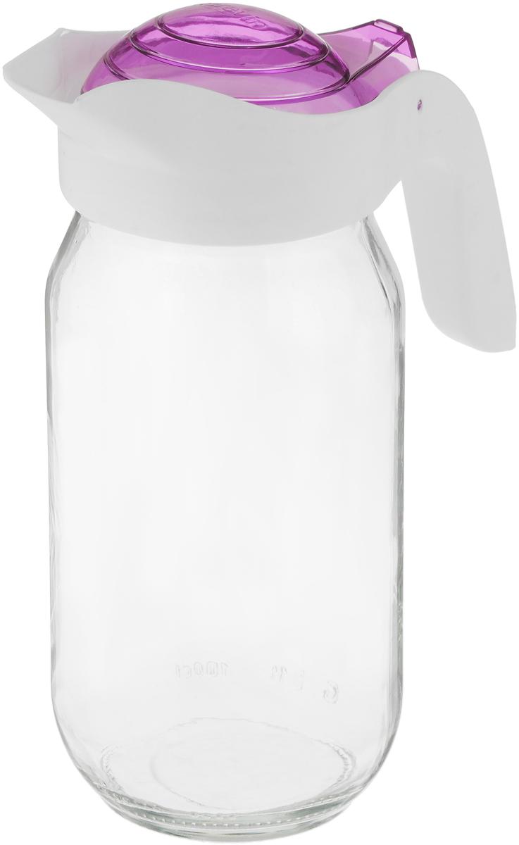 Кувшин Herevin, цвет: фиолетовый, 1 л111271-205_фиолетовыйКувшин Herevin станет неотъемлемым дополнениемвашего стола. Кувшин оснащен удобной ручкой и плотно закрывающейся пластиковой крышкой. Благодаря этому внутри сохраняется герметичность, и напитки дольше остаются свежими. Кувшин прост в использовании, достаточно просто наклонить его и налить ваш любимый напиток. Форма крышки обеспечивает наливание жидкости без расплескивания. Изделие прекрасно подойдет для подачи воды, сока, компота и других напитков.