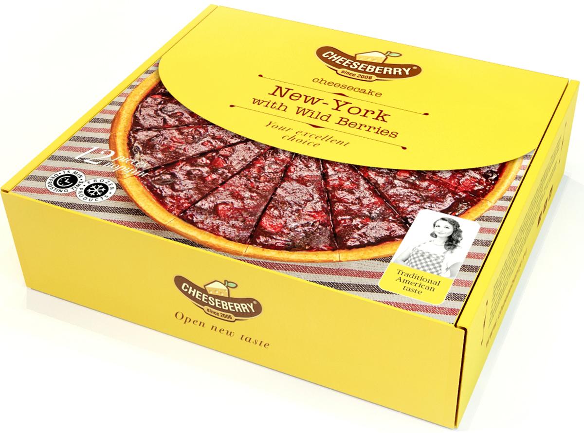 Летняя и жизнерадостная интерпретация всеми любимого чизкейка New-York. Свежий и легкий вкус этому десерту придает толстый слой джема с кусочками натуральных ягод: малины, черники, голубики и ежевики.