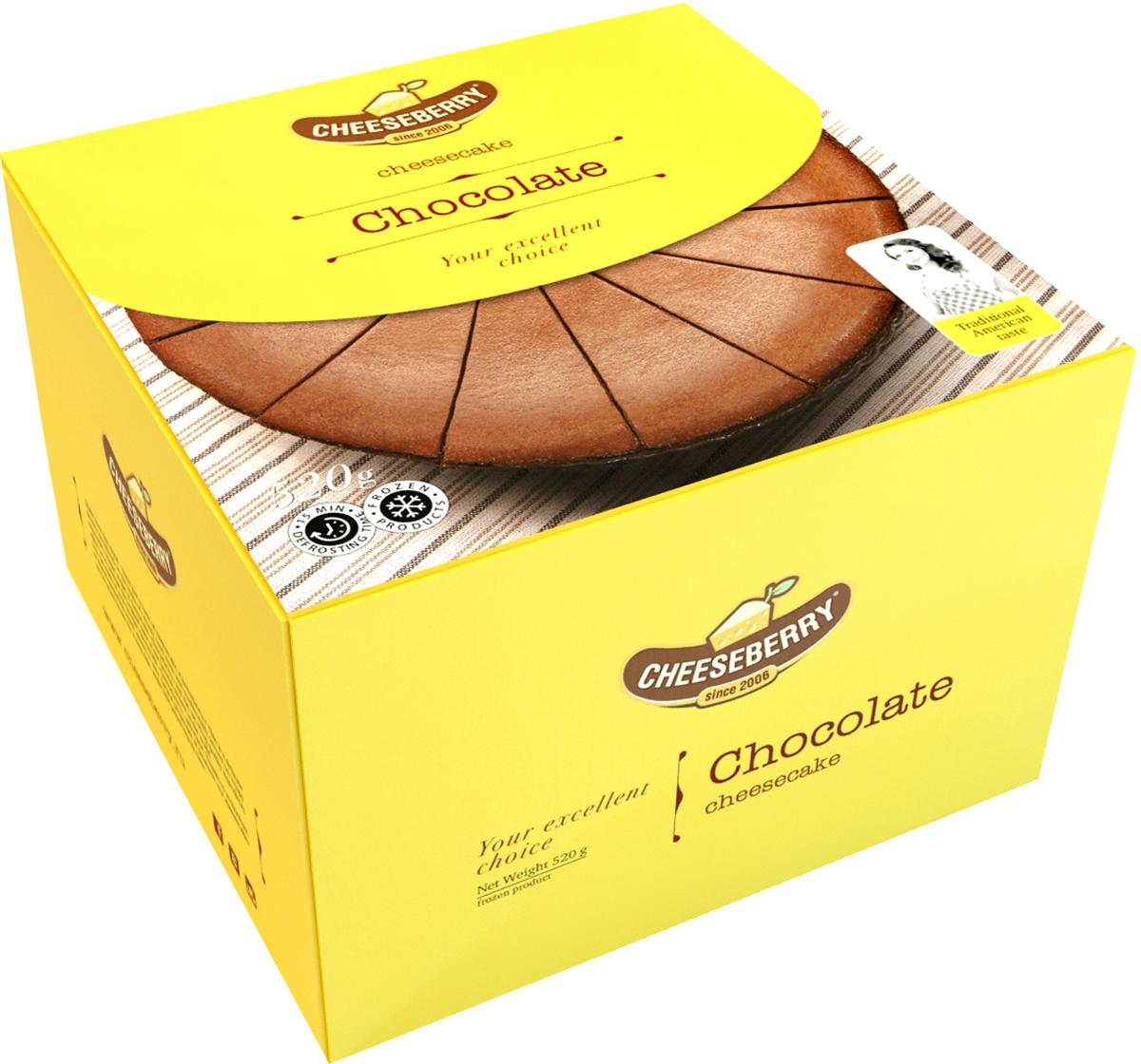 Cheeseberry Чизкейк Шоколадный, 520 г chokocat с днем рождения темный шоколад 85 г