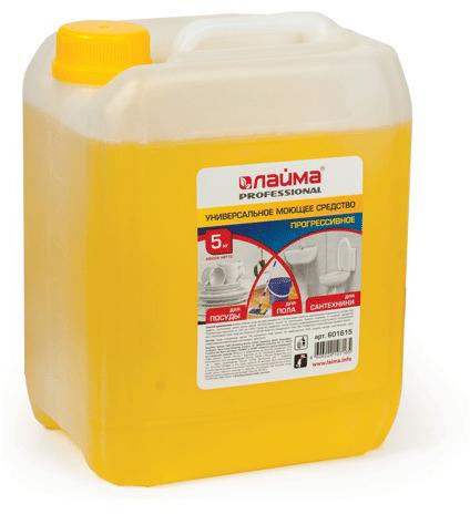 Средство моющее Лайма Professional, универсальное, 5 л601615Средство Лайма Professional предназначено для мытья и обезжиривания различных твердых поверхностей: посуды, поверхностей бытового и производственного оборудования, стен и полов. Также возможно применение на поверхностях из линолеума, камня, металла, стекла, керамики, фаянса, ПВХ.Объем: 5 л.Нетоксичное.Подходит для мытья любых поверхностей.Дозировка: 120 мл./ 5000 мл воды. Как выбрать качественную бытовую химию, безопасную для природы и людей. Статья OZON Гид