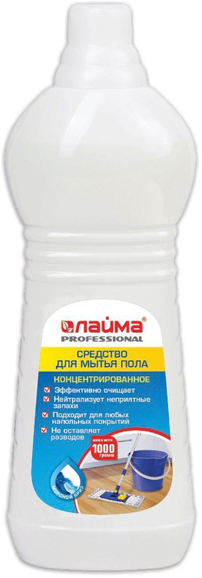Средство для мытья пола Лайма Professional, концентрат, морской бриз, 1 л602297Эффективное средство для мытья пола обладает высоким уровнем чистящей способности и придаёт блеск обработанным поверхностям, создавая эффект защитной плёнки. pH нейтральный, что позволяет чистить любые поверхности: линолеум, паркет, ламинат и т.д. Эффективно очищает. Концентрированное. Нейтрализует неприятные запахи. Не оставляет разводов. Эффективно для любых напольных покрытий. Нейтральный pH. Дозировка: 120 мл на 5000 мл воды. Товар сертифицирован.