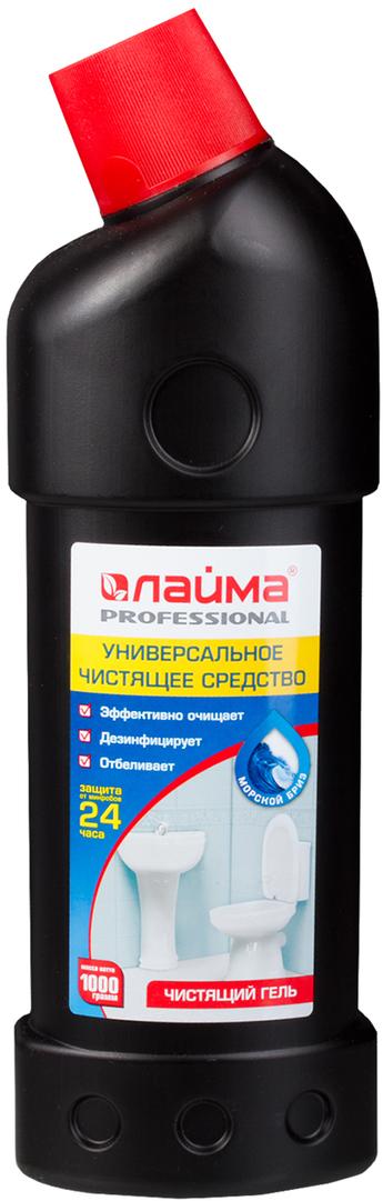 Чистящее средство Лайма Professional, дезинфицирующий и отбеливающий эффект, морской бриз, 1 л602304Концентрированное чистящее средство Лайма Professional идеально подходит для уборки туалета и чистки сантехники и смежных поверхностей. Обладает высоким дезинфицирующим и отбеливающим эффектом, а густая консистенция обеспечивает экономичный расход. Объем: 1 л. Густая консистенция. Эффективно очищает. Дезинфицирует. Отбеливает. Значение pH: 11±0,5 (щелочная среда).