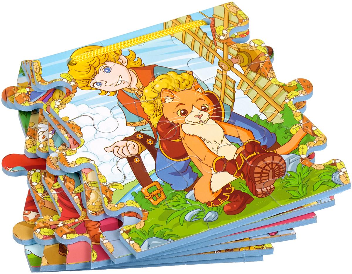 Бомик Книжка-пазл Кот в сапогах бомик пазл для малышей цифры цвет основы синий