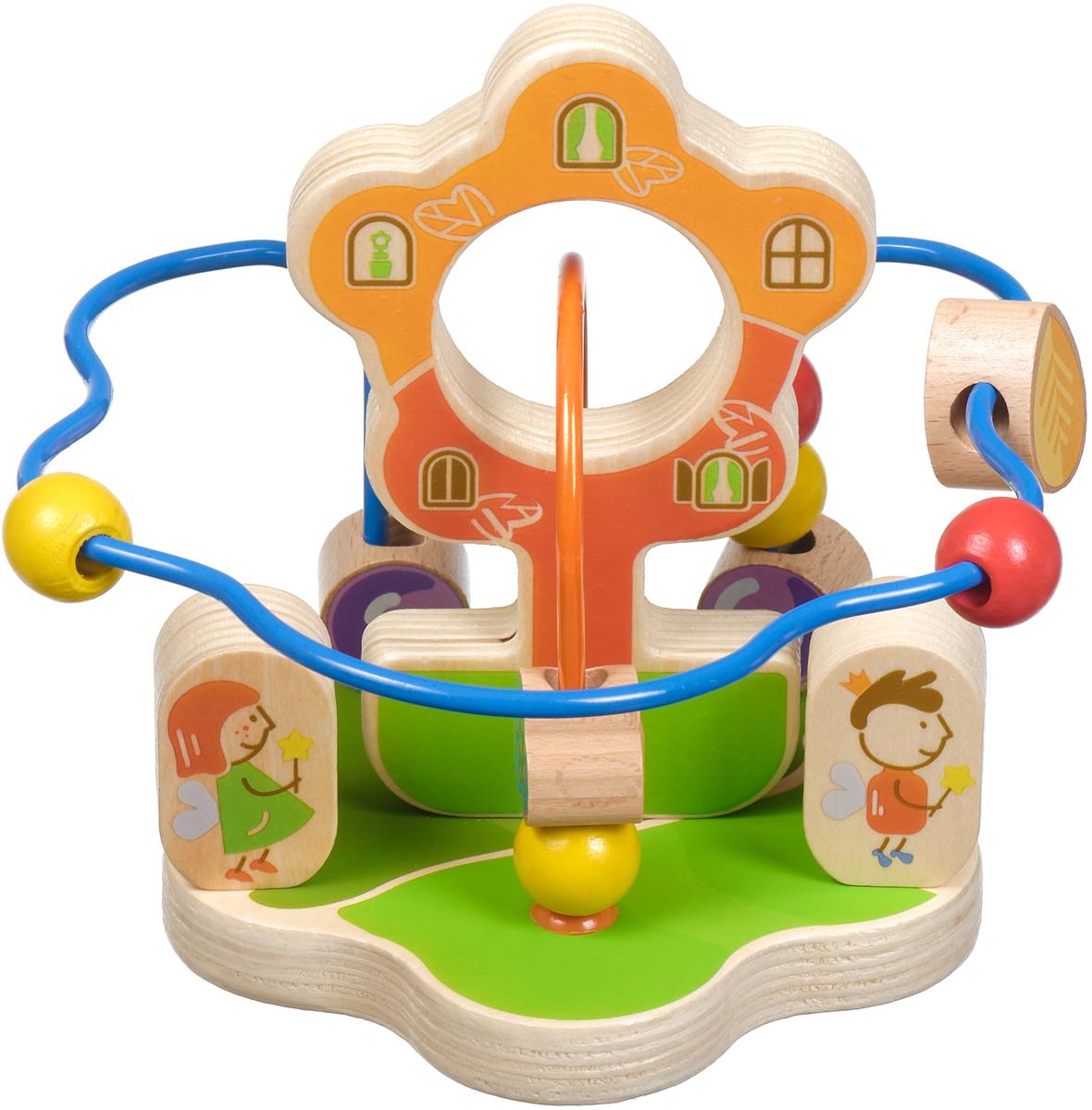 Игрушки из дерева Обучающая игра Лабиринт Волшебный цветок конструкторы игрушки из дерева трамвай