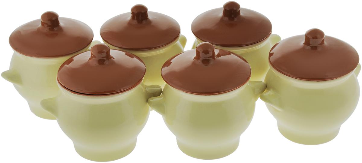 Набор горшочков для запекания Борисовская керамика Стандарт, 600 мл, 6 шт