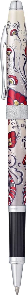 Cross Ручка-роллер Selectip Botanica цвет чернил черныйAT0645-3Ручка-роллер Cross Selectip Botanica - это чрезвычайно стильная коллекционная ручка. Неповторимый цветочный дизайн несомненно является классикой моды. Вдохновленная узорами из хны, раскрашенная в яркие цвета и украшенная металлическими деталями, шариковая ручка Cross Botanica уже стала хитом продаж. Ручка имеет оригинальный рисунок Red Hummingbird Vine, специальное покрытие хромом с оригинальной алмазной гравировкой, отдельные элементы дизайна изготовлены из зеркального хрома.Наличие универсальной системы Cross Selectip, позволяет владельцу выбирать вид стержня, который может быть использован в этой ручке. Вы можете установить: стержень для роллерной ручки, шариковый стержень с увеличенным объемом Jumbo (длительность до 5,6 км), капиллярный стержень. Шариковая ручка Cross - это оригинальный персональный подарок и неотъемлемый элемент вашего стиля. Это голос доверия, который создает долгосрочные отношения между людьми и обогащает смыслом драгоценные моменты. Американская компания Cross - один из старейших брендов среди производителей пишущих инструментов и деловых аксессуаров. Компания была основана в 1846 году ювелиром Ричардом Кроссом и изначально специализировалась на производстве роскошных ручек из драгоценных металлов. На протяжении долгих лет пишущие инструменты Cross остаются классическим выбором для подарка.Ручка поставляется в специальной подарочной упаковке.