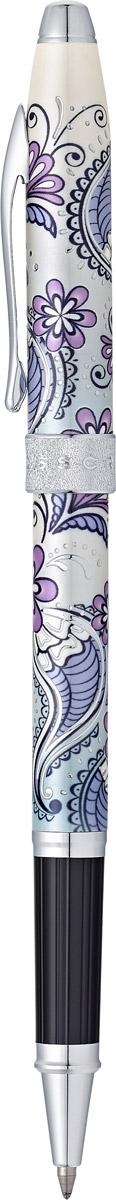 Cross Ручка-роллер Selectip Botanica цвет чернил черныйAT0645-2Ручка-роллер Cross Selectip Botanica - это чрезвычайно стильная коллекционная ручка. Неповторимый цветочный дизайн несомненно является классикой моды. Вдохновленная узорами из хны, раскрашенная в яркие цвета и украшенная металлическими деталями, шариковая ручка Cross Selectip Botanica уже стала хитом продаж.Наличие универсальной системы Cross Selectip, позволяет владельцу выбирать вид стержня, который может быть использован в этой ручке. Вы можете установить: стержень для роллерной ручки, шариковый стержень с увеличенным объемом Jumbo (длительность до 5,6 км), капиллярный стержень.Шариковая ручка Cross - это оригинальный персональный подарок и неотъемлемый элемент вашего стиля. Это голос доверия, который создает долгосрочные отношения между людьми и обогащает смыслом драгоценные моменты. Американская компания Cross - один из старейших брендов среди производителей пишущих инструментов и деловых аксессуаров. Компания была основана в 1846 году ювелиром Ричардом Кроссом и изначально специализировалась на производстве роскошных ручек из драгоценных металлов. На протяжении долгих лет пишущие инструменты Cross остаются классическим выбором для подарка.Ручка поставляется в специальной подарочной упаковке.