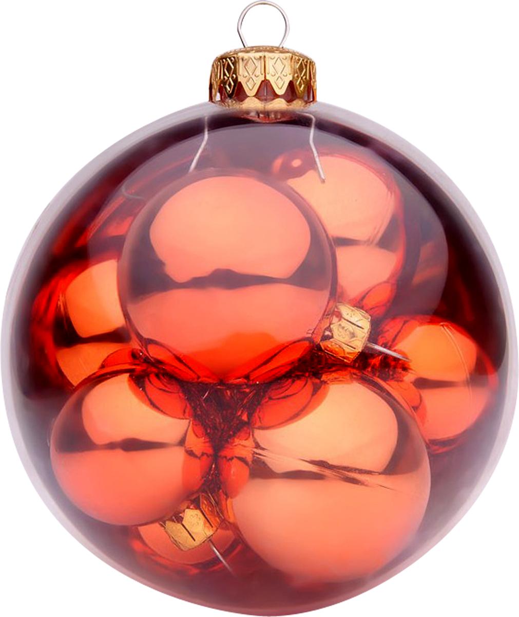 Украшение новогоднее подвесное Mister Christmas, 9 штBC-IB-R-100Новогоднее подвесное украшение Mister Christmas прекрасно подойдет для праздничного декора новогодней ели. Украшение представляет собой большой шар, в котором расположены новогодние шарики поменьше. Для удобного размещения на елке предусмотрена петелька. Елочная игрушка - символ Нового года. Она несет в себе волшебство и красоту праздника. Создайте в своем доме атмосферу веселья и радости, украшая новогоднюю елку нарядными игрушками, которые будут из года в год накапливать теплоту воспоминаний.