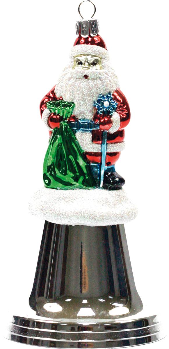 Украшение новогоднее Mister Christmas Дед Мороз на колоколе, цвет: серебристый, высота 15 смBD 80-BELL-204Новогодние украшения всегда несут в себе волшебство и красоту праздника. Создайте в своем доме атмосферу тепла, веселья и радости, украшая его всей семьей.