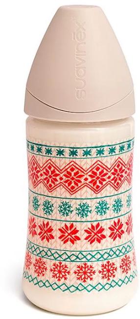 Suavinex Бутылочка Winter Collection от 0 месяцев с силиконовой соской цвет белый 270 мл suavinex бутылочка от 0 месяцев с силиконовой соской цвет розовый 270 мл 3800055