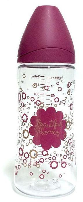 Suavinex Бутылочка Haute Couture от 0 месяцев с силиконовой соской цвет фуксия 360 мл бутылочки для кормления suavinex бутылка suavinex 150мл haute couture от 0мес с анатомич силиконовой соской