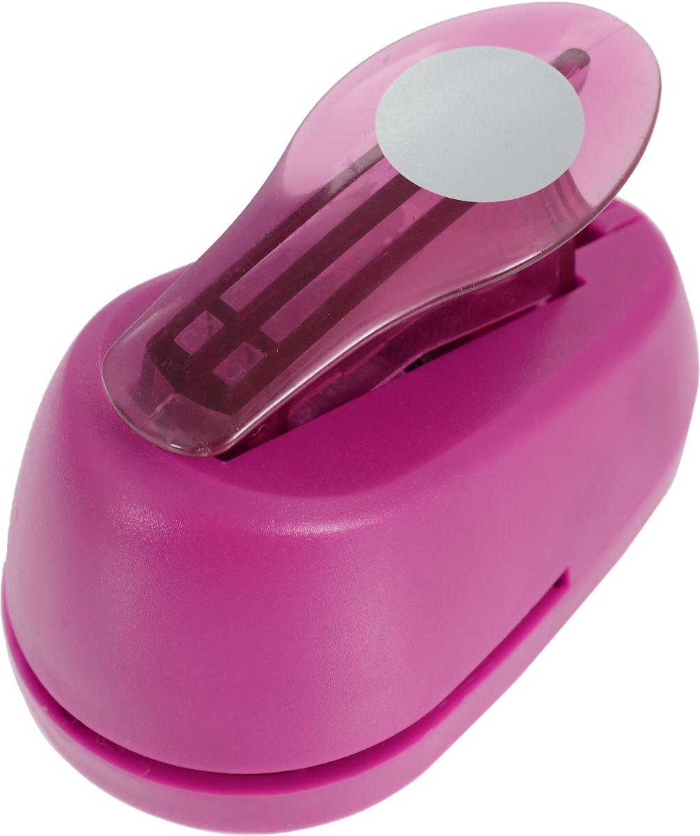 "Дырокол фигурный Hobbyboom ""Круг"", №116, цвет: темно-розовый, 1,8 см"